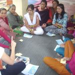 Languge class to women group's member by international volunteer july 2012