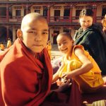 child at buddhist monastry
