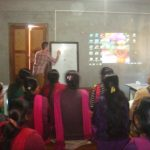 Volunteer giving teacher training