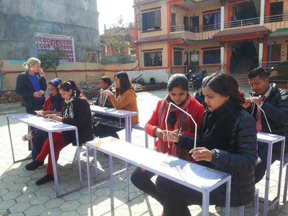 Participant teachers learning problem solving activity