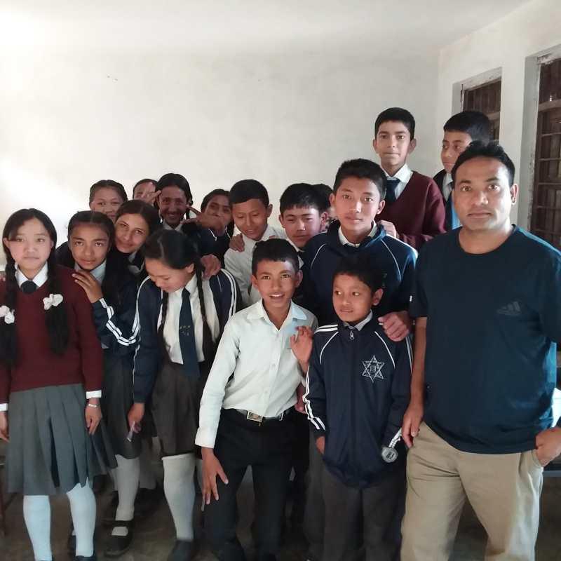 Volunteer Experience Raju child development